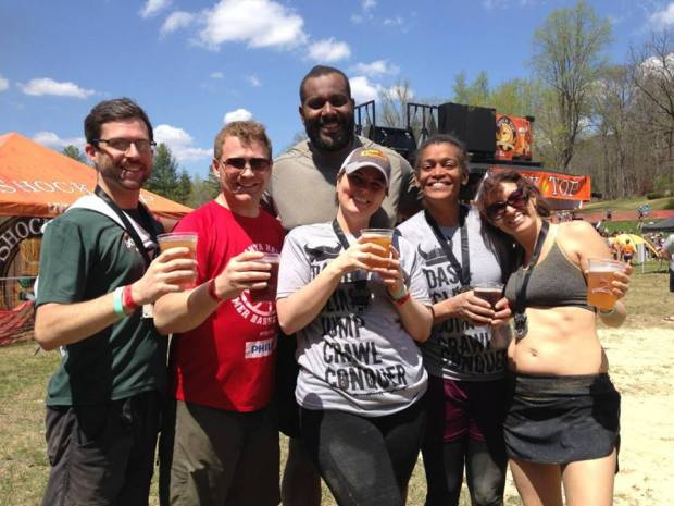 group photo from Warrior Dash