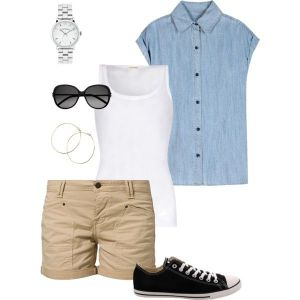 Casual outfit for vacation.