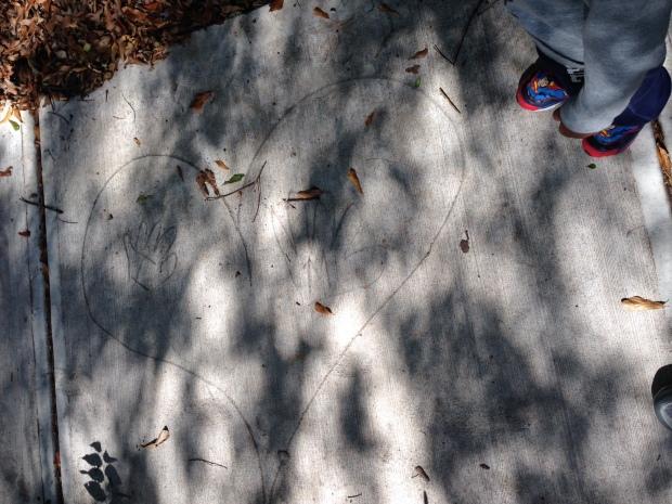 Heart in the sidewalk
