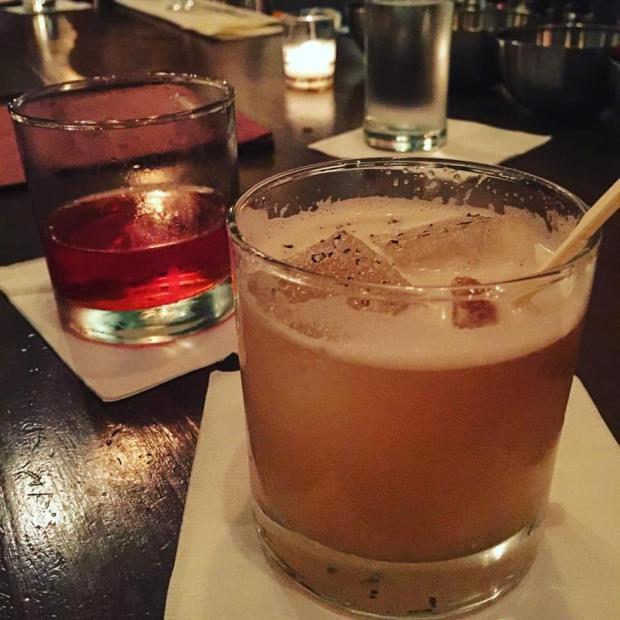Sazerac and Goonies Never Say Die by the wonderful bartenders at The Pinewood Tippling Room.
